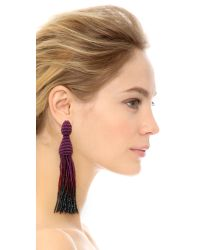 Oscar de la Renta - Purple Ombre Tassel Earrings - Ultraviolet/hematite - Lyst