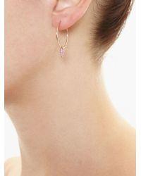 Asherali Knopfer | Pink Interchangeable Sapphire 'lou' Hoop Earring | Lyst
