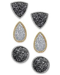 Style & Co. | Metallic Two-tone Glitter Stud Earring Set | Lyst