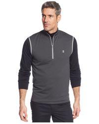 Izod - Black Half-zip Performance Vest for Men - Lyst