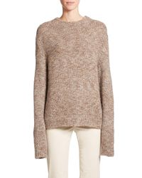 The Row | Brown Rane Tweed Knit Sweater | Lyst