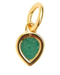 Monica Vinader - Metallic Gold Vermeil Diamond And Aventurine Diva Mini Lotus Pendant - Lyst