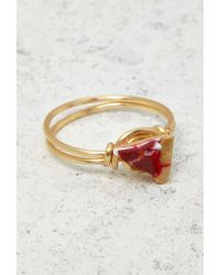 Forever 21 - Orange Jane'S Tiny Things Pepperoni Pizza Midi Ring - Lyst