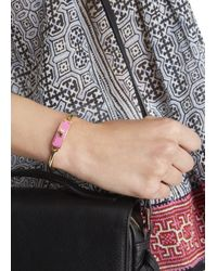Marc By Marc Jacobs - Carry Forward Pink Turn-lock Enamel Cuff - Lyst