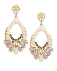 Catherine Stein - Pink Bejeweled Drop Earrings - Lyst