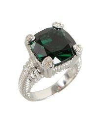 Judith Ripka | Metallic Green Quartz and Diamond Fontaine Ring | Lyst