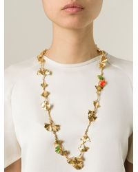 Aurelie Bidermann | Metallic Ginkgo Long Necklace | Lyst