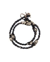 Tobias Wistisen - Black Olive Bead Bracelet for Men - Lyst