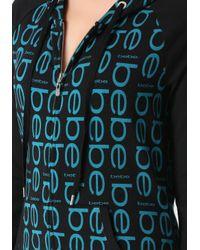 Bebe | Black Logo 3/4 Sleeve Hoodie | Lyst