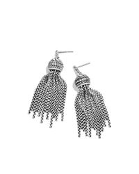 David Yurman - Metallic Tassel Earrings with Diamonds - Lyst