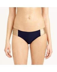 J.Crew - Blue Metallic Colorblock Hipster Bikini Bottom - Lyst