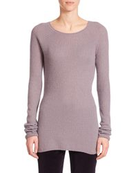 The Row - Purple Tilly Ribbed Cashmere Sweater - Lyst