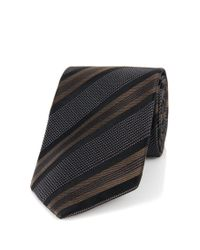 BOSS - Brown 't-tie 7.5 Cm' | Regular, Italian Silk Patterned Tie for Men - Lyst