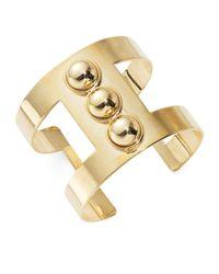 R.j. Graziano | Metallic Studded Cutout Cuff Bracelet | Lyst