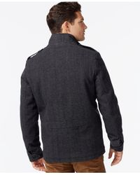 Tommy Hilfiger | Gray Wool Military Jacket for Men | Lyst