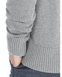 Banana Republic | Gray Arm-stripe Vee Pullover for Men | Lyst