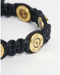 Love Bullets - Black Lovebullets Woven Bullet Bracelet for Men - Lyst