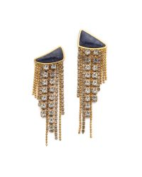 Lizzie Fortunato | Reflective Pool Earrings - Blue/gold | Lyst