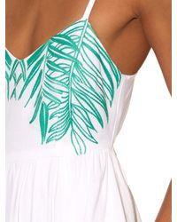 Mara Hoffman - Green Palm-embroidered Tie-back Dress - Lyst