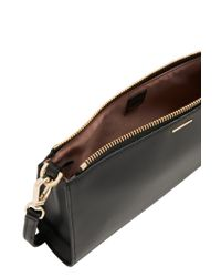 BOSS - Black 'staple Mini Bag-c' | Leather Clutch With Detachable Shoulder Strap - Lyst