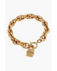 Rachel Zoe | Metallic 'Gavriel' Padlock Charm Bracelet | Lyst
