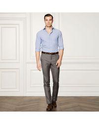 Ralph Lauren Purple Label | Blue Aston Gingham Cotton Shirt for Men | Lyst
