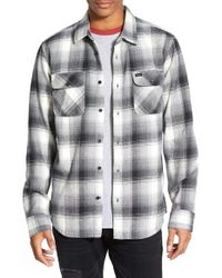 RVCA | Gray 'highland Plaid' Regular Fit Long Sleeve Flannel Woven Shirt for Men | Lyst