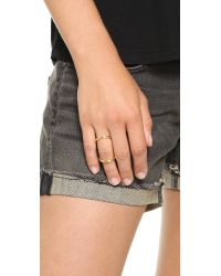 Fallon - Metallic Infinity Bent Ring Gold - Lyst