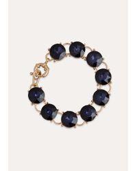 Bebe | Black Crystal Clasp Bracelet | Lyst