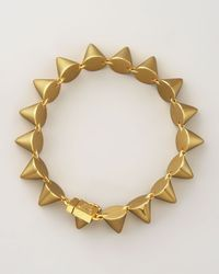 Eddie Borgo | Metallic Small Cone Bracelet | Lyst