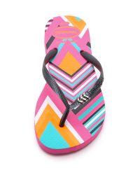 Havaianas - Slim Tribal Flip Flops - Shocking Pink - Lyst