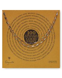 Dogeared - Metallic 100 Good Wishes Tiny Bars Necklace 41 - Lyst