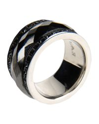 Emporio Armani - Black Ring - Lyst