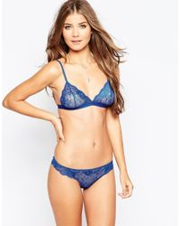 ASOS - Blue Remi Lace Mix & Match Thong - Lyst