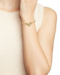 Marc By Marc Jacobs - Metallic Pavé Daisy Hinge Bangle - Lyst