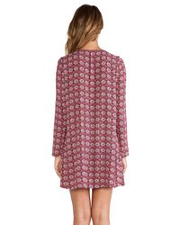Tigerlily - Purple Boteh Dress - Lyst