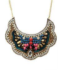 Forever 21 - Multicolor Bejeweled Bib Necklace - Lyst