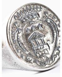 Goti Metallic Engraved Ring for men