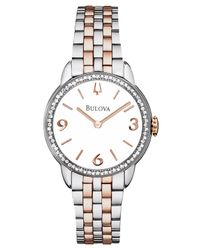 Bulova | Gray Women'S Diamond (2/5 Ct. T.W.) Two-Tone Stainless Steel Bracelet Watch 29Mm 98R182 | Lyst