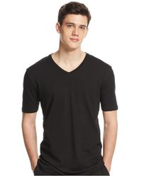 Lacoste | Black V-neck Pajama T-shirt for Men | Lyst
