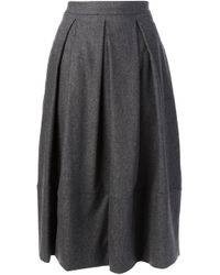 Societe Anonyme - Gray Flared Skirt - Lyst