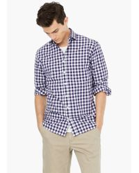 Mango | Purple Slim-fit Gingham Check Shirt for Men | Lyst