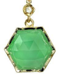 Irene Neuwirth | Metallic Chrysoprase And Diamond Hexagon Earrings | Lyst