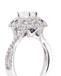 Vera Wang Love - Metallic Tiara Diamond and White Gold Engagement Ring - Lyst
