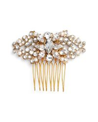 Halo - 'edith' Crystal Hair Comb - Metallic - Lyst