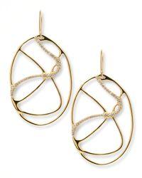 Ippolita - Metallic Drizzle 18K Gold Oval Diamond Drop Earrings - Lyst