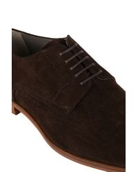 HUGO - Brown Lace-up Leather Brogues: 'c-moder' for Men - Lyst