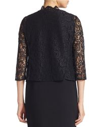 Calvin Klein | Black Lace Cardigan | Lyst