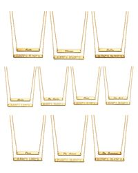 Coordinates Collection | Metallic 22k Gold-plated Cove Pendant Necklace | Lyst