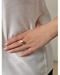Melanie Georgacopoulos - White Pearl Yellow Gold Tasaki Ring - Lyst